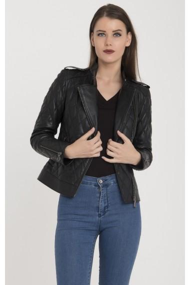 Jacheta din piele Giorgio di Mare GI9177856 Negru