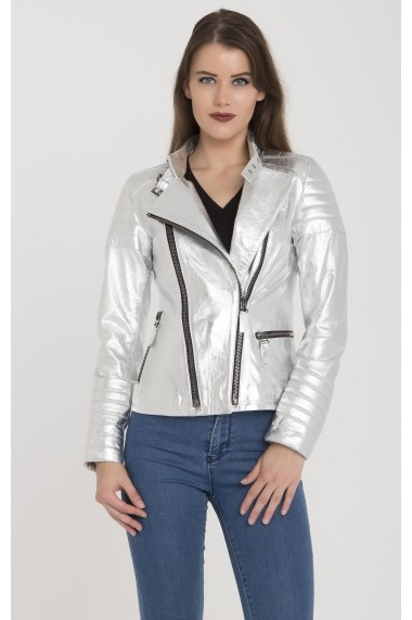 Jacheta din piele Giorgio Di Mare GI3099768 Gri