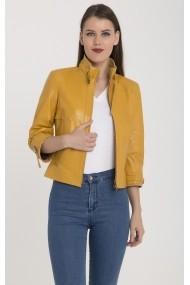 Jacheta din piele Giorgio Di Mare GI4126591 Galben