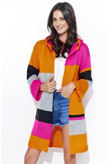 Cardigan Numinou GLB-NU s33 orange-fuchsia Multicolor - els