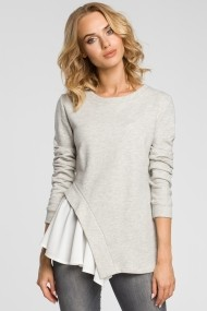 Блуза Made of Emotion GLB-m333-lightgrey сиво