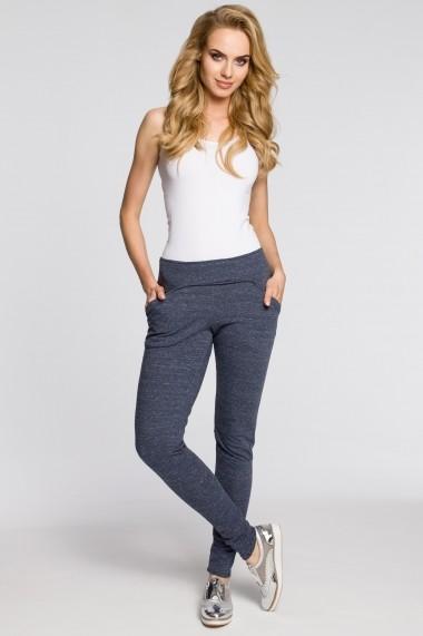 Pantaloni skinny Made of Emotion M198 Bleumarin