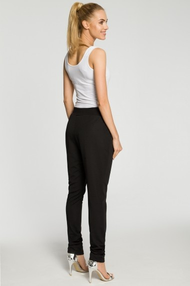 Pantaloni largi Made of Emotion M256 Negru