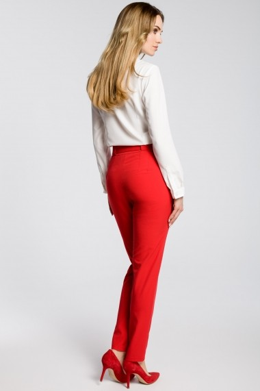 Pantaloni largi Made of Emotion M363 Rosu - els