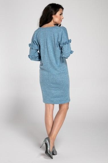 Rochie NAOKO GLB-AT153 BLUE Albastru