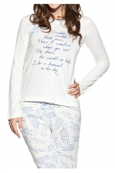 Set pijama Luisa Moretti GLB-1540-POWDER BLUE Albastru