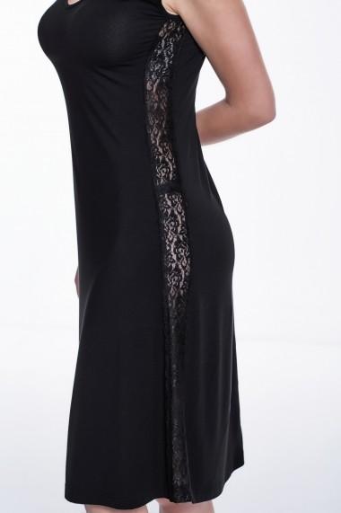 Camasa de noapte Luisa Moretti GLB-LMS-4025-BLACK Negru