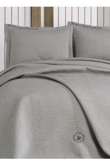 Set lenjerie de pat dublu 176BHP9201 Beverly Hills Polo Club Gri