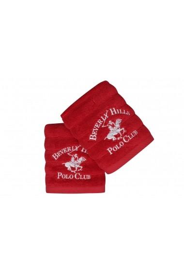 Set 2 prosoape de maini Beverly Hills Polo Club 355BHP1297 Rosu