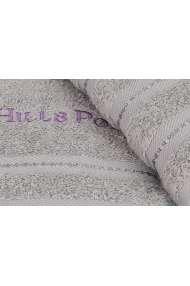 Set 2 prosoape de maini Beverly Hills Polo Club 355BHP2217 Gri
