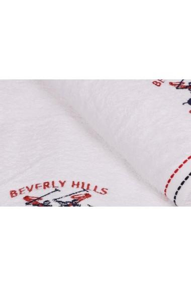Set 2 prosoape de baie Beverly Hills Polo Club 355BHP1455 Alb