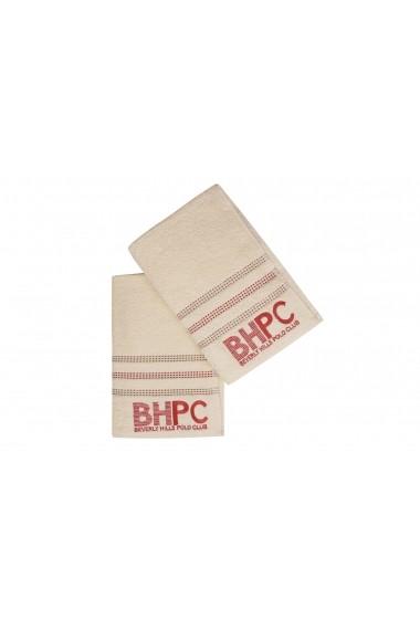 Set 2 prosoape de baie Beverly Hills Polo Club 355BHP1451 Crem