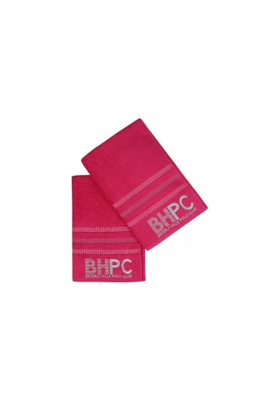 Set 2 prosoape de baie Beverly Hills Polo Club 355BHP1449 Fuchsia