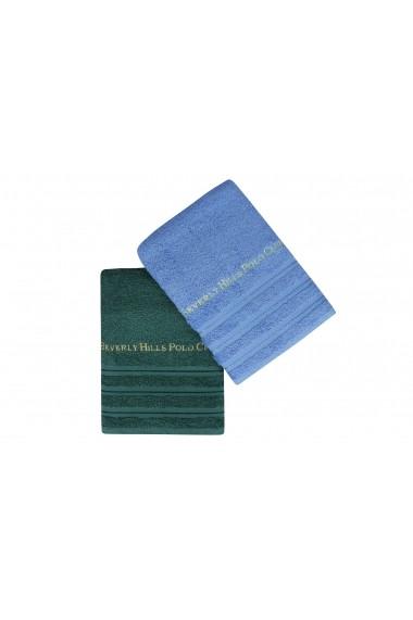 Set 2 prosoape de baie Beverly Hills Polo Club 355BHP1491 Albastru