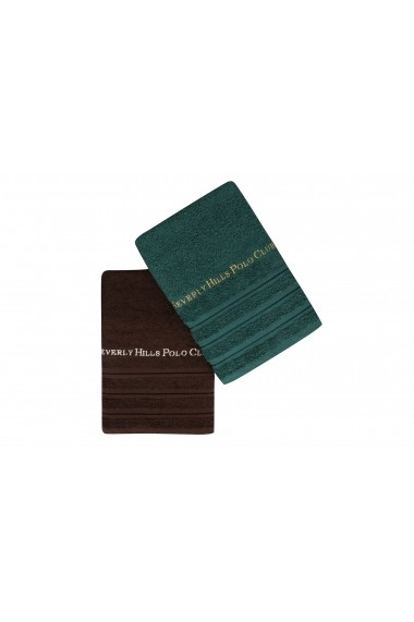 Set 2 prosoape de baie Beverly Hills Polo Club 355BHP1489 Verde