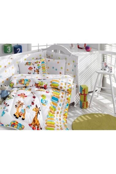 Set lenjerie de pat Cotton Box ASR-129CTN5006 Multicolor