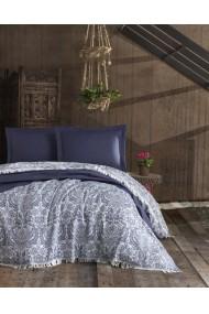 Cuvertura pat dublu 162ELR5238 EnLora Home Bleumarin