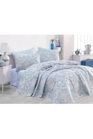 Set lenjerie de pat dublu EnLora Home 162ELR9239 Albastru