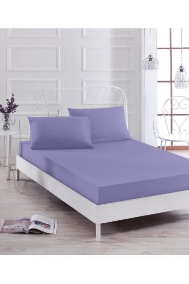 Set lenjerie de pat single EnLora Home 162ELR0538 Violet