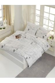 Set lenjerie de pat 162ELR2114 EnLora Home Alb