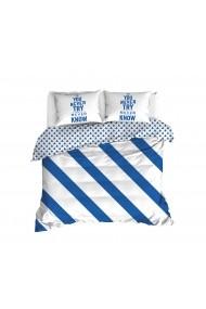 Set lenjerie de pat 162ELR2123 EnLora Home Albastru