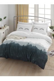 Set lenjerie de pat 162ELR2125 EnLora Home Alb