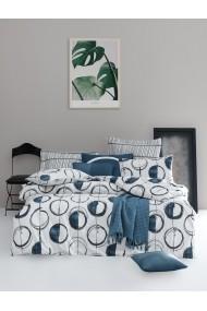 Set lenjerie de pat 162ELR2156 EnLora Home Albastru