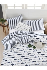 Set lenjerie de pat 162ELR2163 EnLora Home Bleumarin