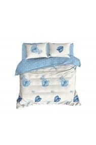 Set lenjerie de pat 162ELR2277 EnLora Home Albastru