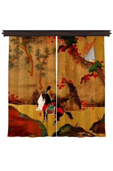 Set 2 draperii Cipcici ASR-785CPC8105 Multicolor