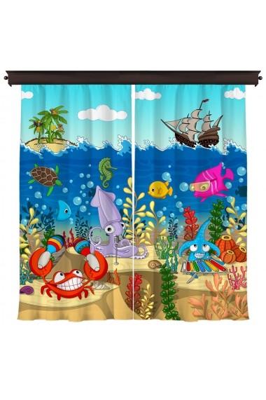 Set 2 draperii Cipcici ASR-785CPC8165 Multicolor