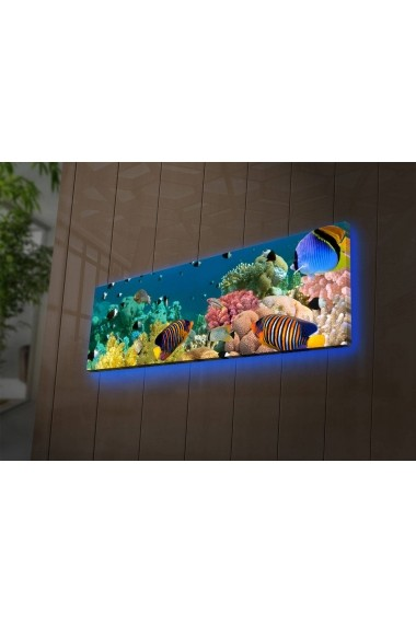 Tablou din panza, cu lumina LED Shining ASR-239SHN1263 Multicolor