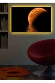 Tablou din panza, cu lumina LED Shining ASR-239SHN1285 Multicolor