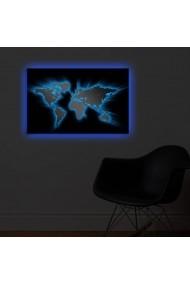 Tablou din panza, cu lumina LED Shining ASR-239SHN3284 Multicolor