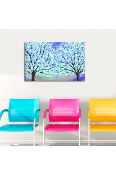 Tablou din panza, cu lumina LED Shining ASR-239SHN3288 Multicolor