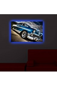 Tablou din panza, cu lumina LED Shining ASR-239SHN3295 Multicolor