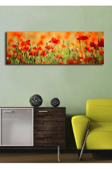 Tablou din panza, cu lumina LED Shining ASR-239SHN1213 Multicolor - els