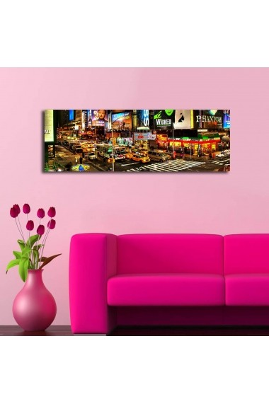 Tablou din panza, cu lumina LED Shining ASR-239SHN3210 Multicolor