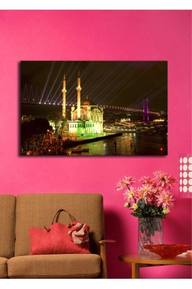 Tablou din panza, cu lumina LED Shining ASR-239SHN1236 Multicolor