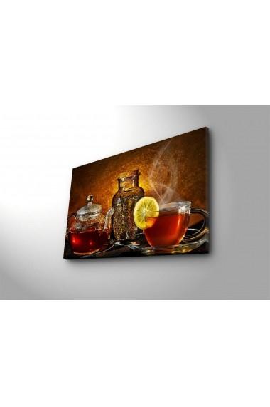 Tablou din panza, cu lumina LED Shining ASR-239SHN3229 Multicolor