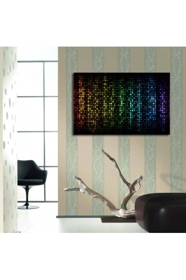 Tablou din panza, cu lumina LED ASR-239SHN3236 Multicolor