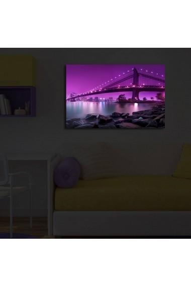 Tablou din panza, cu lumina LED ASR-239SHN3238 Multicolor
