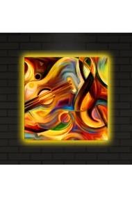 Tablou din panza, cu lumina LED ASR-239SHN4290 Multicolor