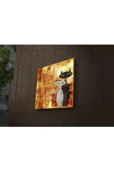 Tablou din panza, cu lumina LED ASR-239SHN4242 Multicolor