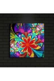 Tablou din panza, cu lumina LED ASR-239SHN4234 Multicolor - els