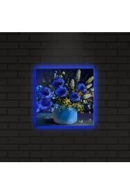 Tablou din panza, cu lumina LED ASR-239SHN4264 Multicolor