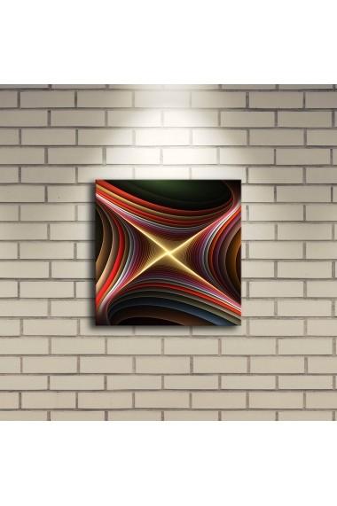 Tablou din panza, cu lumina LED ASR-239SHN4201 Multicolor