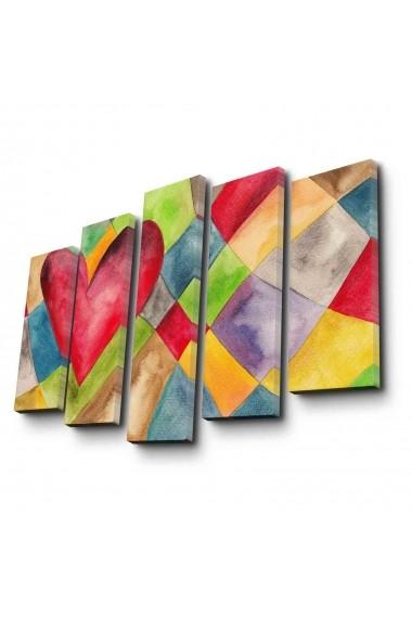 Tablou decorativ (5 bucati) Canvart 249CVT1258 multicolor