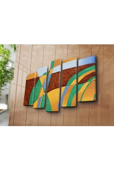 Tablou decorativ (5 bucati) Canvart 249CVT1260 multicolor