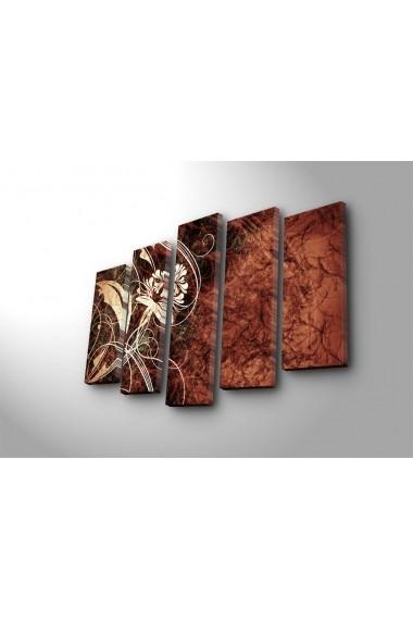 Tablou decorativ (5 bucati) Canvart 249CVT1263 multicolor